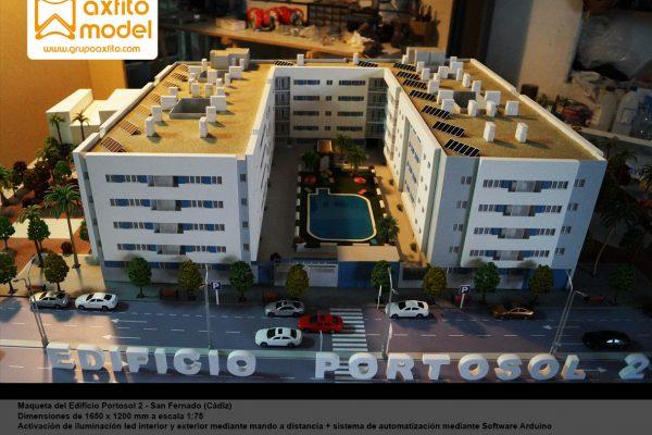 La maqueta del Residencial Portosol II – San Fernando