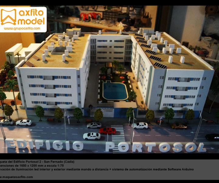 maqueta edificación edificio portosol maquetas arquitectura taller de maquetas en granada