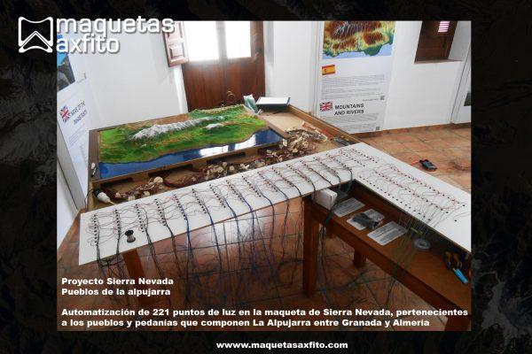 Maqueta automatizada de Sierra Nevada – Pueblos de La Alpujarra entre Granada y Almería