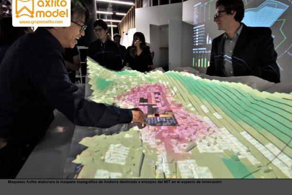 Maqueta topográfica e interactiva de Andorra
