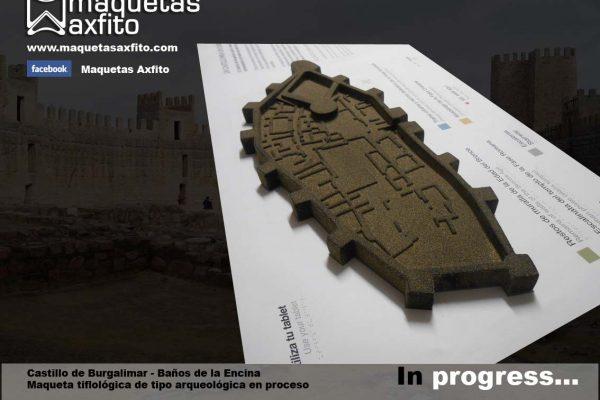 Maqueta tiflológica arqueológica de El Castillo de Burgalimar