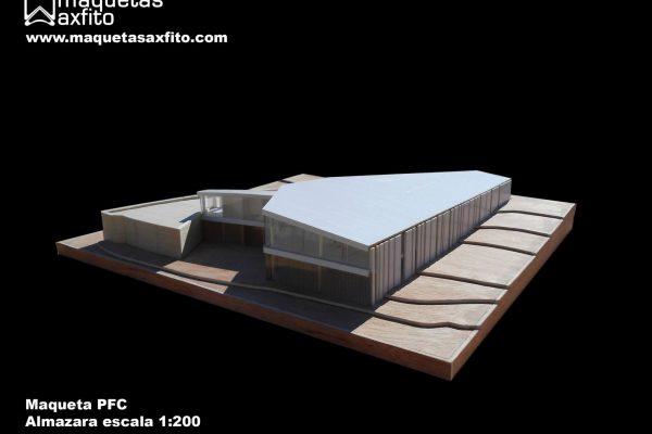 Maqueta arquitectónica PFC Almazara