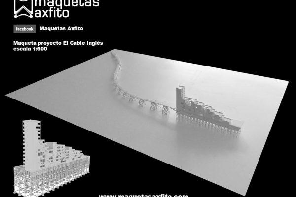 "Maqueta arquitectónica PFC proyecto ""El Cable Inglés"""