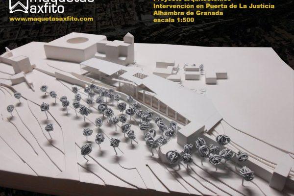 Maqueta arquitectónica PFC – Intervención en la Alhambra