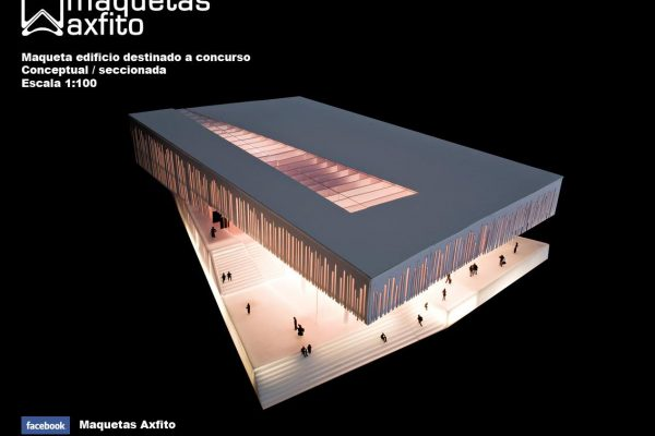 "Maqueta Edificio ""Blueshoes"" Concurso Arquitectura en Noruega"