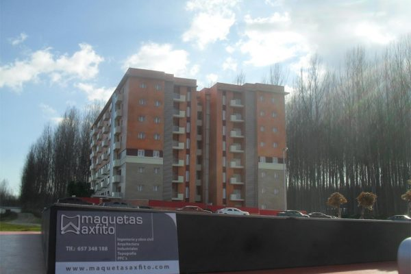 La maqueta del edificio D.Vicente