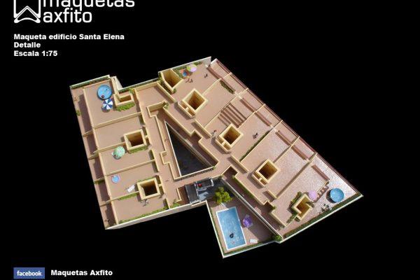 La maqueta del Edificio Santa Elena – Granada