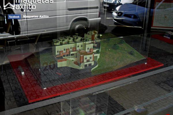 Maqueta residencial de 9 viviendas adosadas