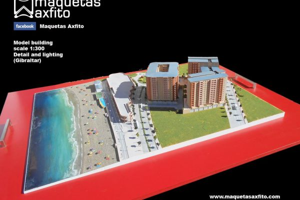 La maqueta del proyecto Beach View Terraces – Gibraltar