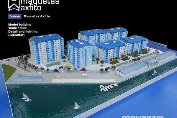 Maqueta viviendas Mons Calpe Mews – Gibraltar