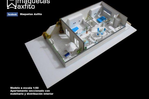 Maqueta de apartamento seccionado Miraflores Tennis & Leissure Resort