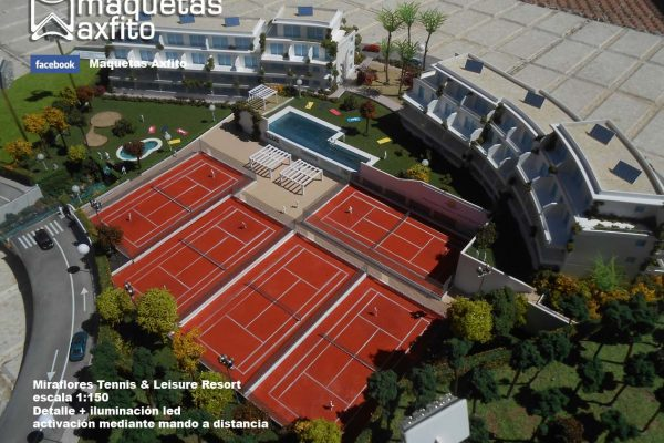 La maqueta del Club Miraflores Tennis & Leissure Resort