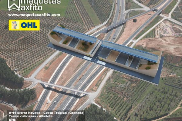 Maqueta tramo construcción de paso superior en A-44 Sierra Nevada – Costa tropical