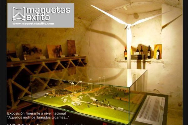 Maqueta de un parque de energía eólica
