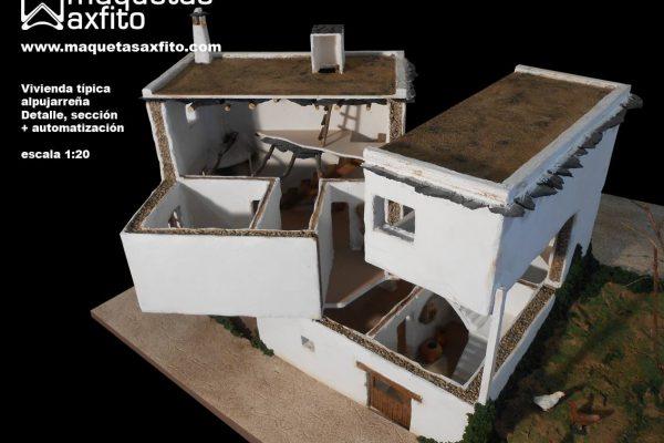 Maqueta de una vivienda típica alpujarreña