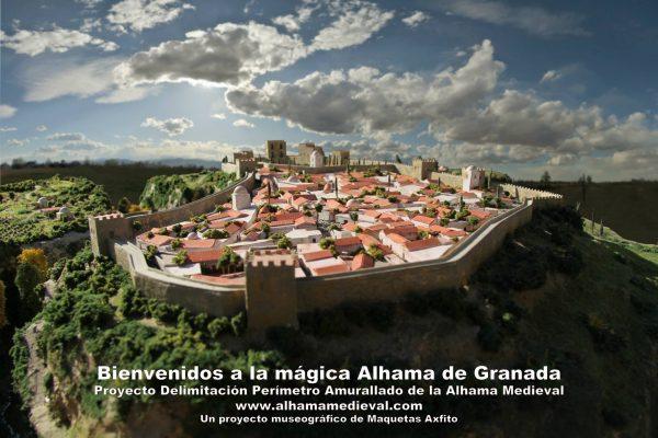 Maqueta de la Ciudad de Alhama de Granada en época Medieval