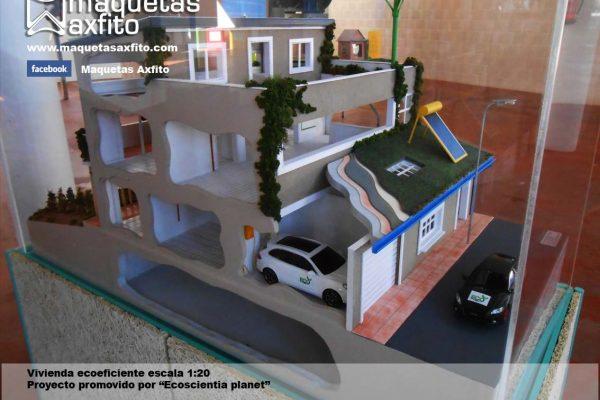 Maqueta de una vivienda ecoeficiente