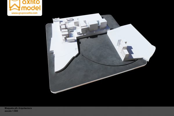 Maqueta arquitectónica PFC escala 1:200