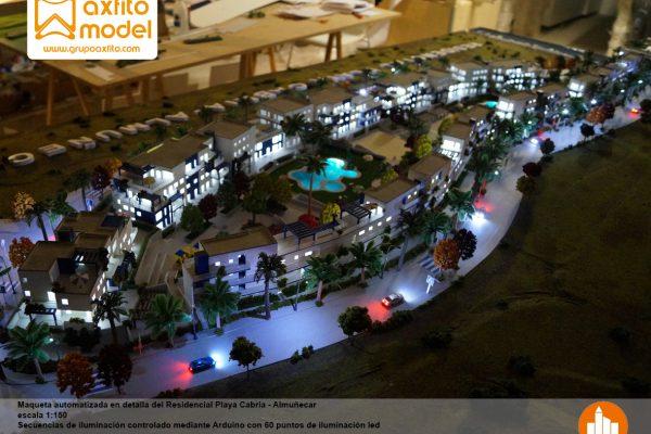 La maqueta del Residencial Playa Cabria – Almuñecar