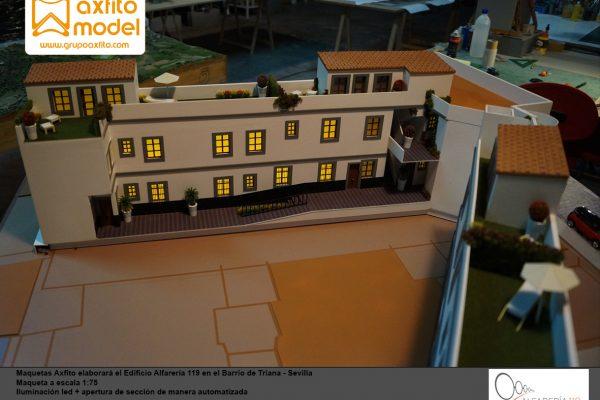 La maqueta del Edificio Alfarería 119 – Triana