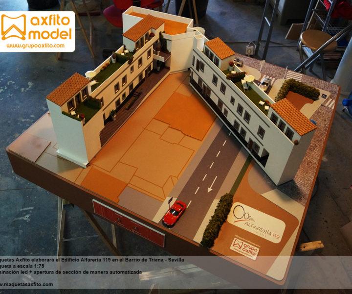 edificio alfarería triana maquetas en sevilla maquetas inmobiliaria axfito