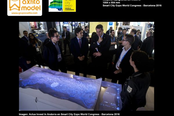 Maqueta topográfica de Andorra para Smart City World Congress 2016