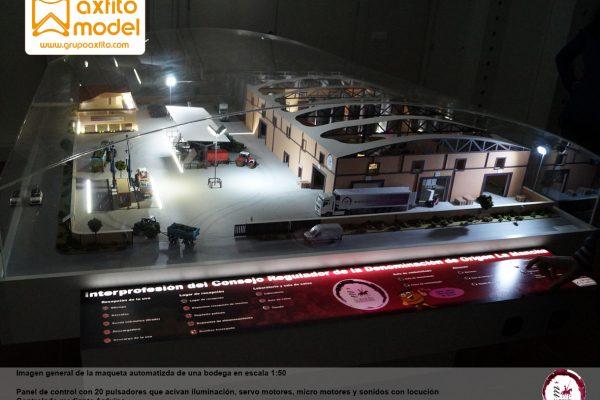 Maqueta automatizada de una bodega para la ICRDO de La Mancha