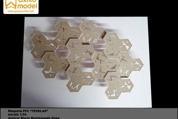 Maqueta arquitectónica PFC – Proyecto TESELAS