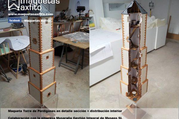 Maquetas de la Torre de Perdigones de La Carolina – Jaén