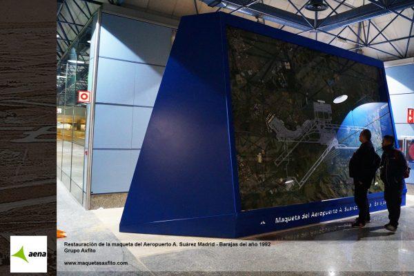 Restauración de la maqueta del Aeropuerto A. Suárez Madrid – Barajas del año 1992