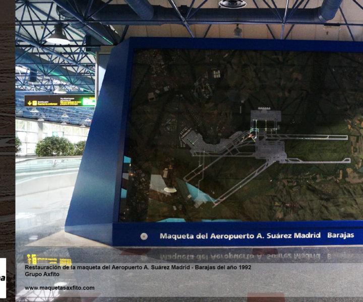 maquetas profesionales taller de maquetas en granada, grupo axfito, aeropuerto madrid barajas aena, airport scale model,