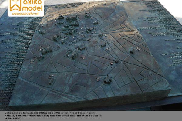 Maquetas tiflológicas en bronce del casco histórico de Baeza – Jaén