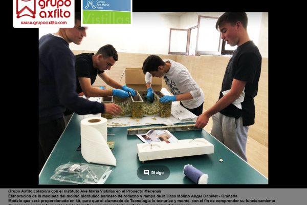 Colaboración con el Centro Educativo Ave María Vistillas – Proyecto Mecenas