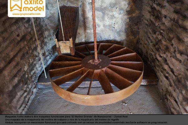 Maquetas funcionales del molino de rodezno y regolfo
