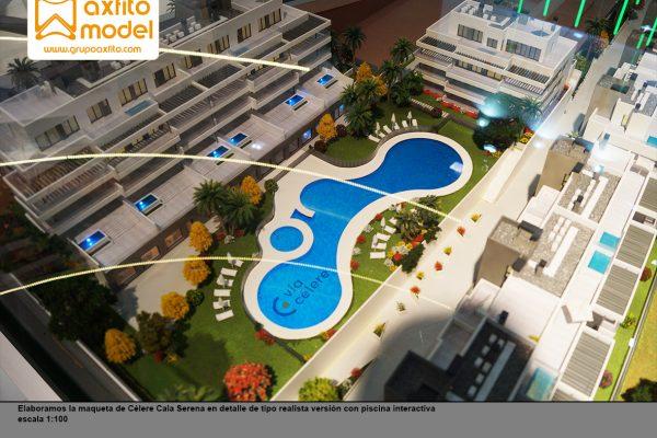 La maqueta interactiva del Residencial Célere Cala Serena a escala 1:100