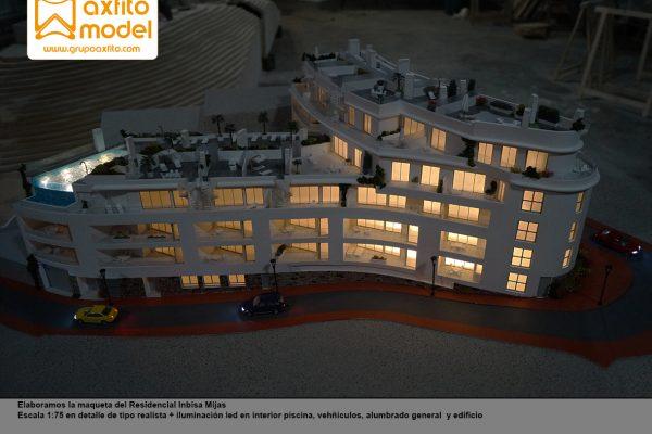 La maqueta del Residencial Inbisa Mijas