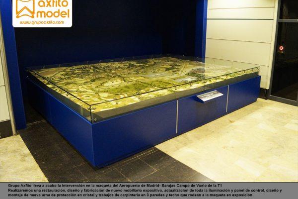 Restauración de la maqueta del Aeropuerto A. Suárez Madrid-Barajas Campo de Vuelo y mejora de entorno expositivo