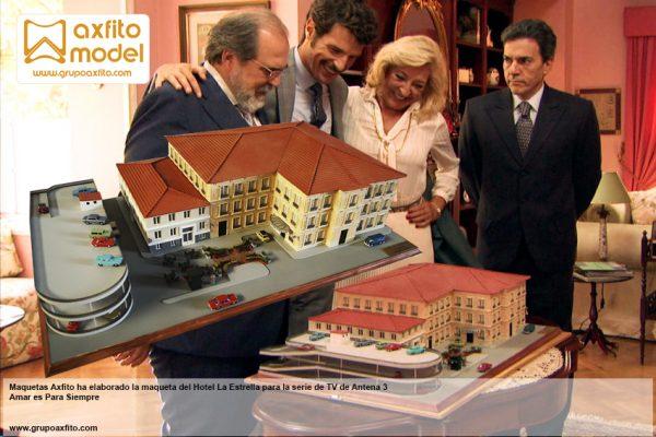 Elaboramos la maqueta del Hotel La Estrella para la serie de TV Amar es Para Siempre
