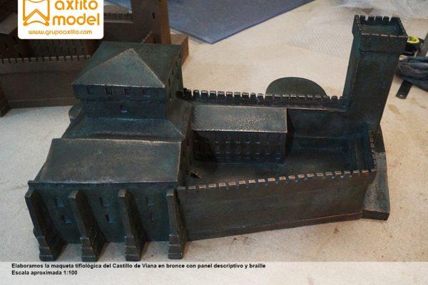 La maqueta tiflológica en bronce del Castillo de Viana – Navarra
