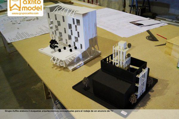 Maquetas arquitectónicas como parte del atrezzo para spot publicitario