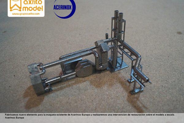 Intervención restauración parcial y actualización de la maqueta existente en Acerinox Europa