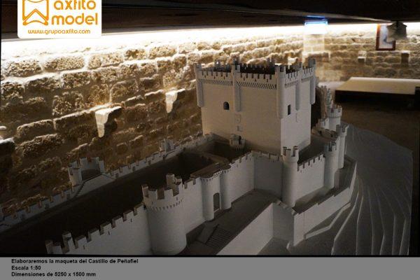 La maqueta del Castillo de Peñafiel