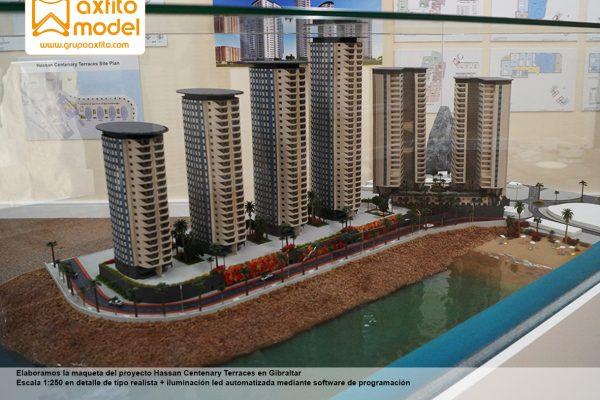 La maqueta del proyecto Hassan Centenary Terraces – Gibraltar