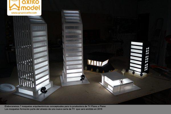 7 maquetas arquitectónicas conceptuales para serie de TV Toy Boy